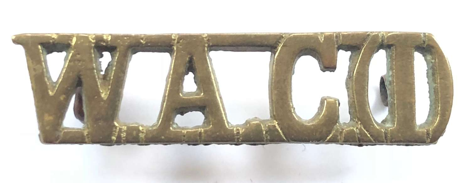 WW2 Women's Auxiliary Corps (India) Shoulder Title Badge.