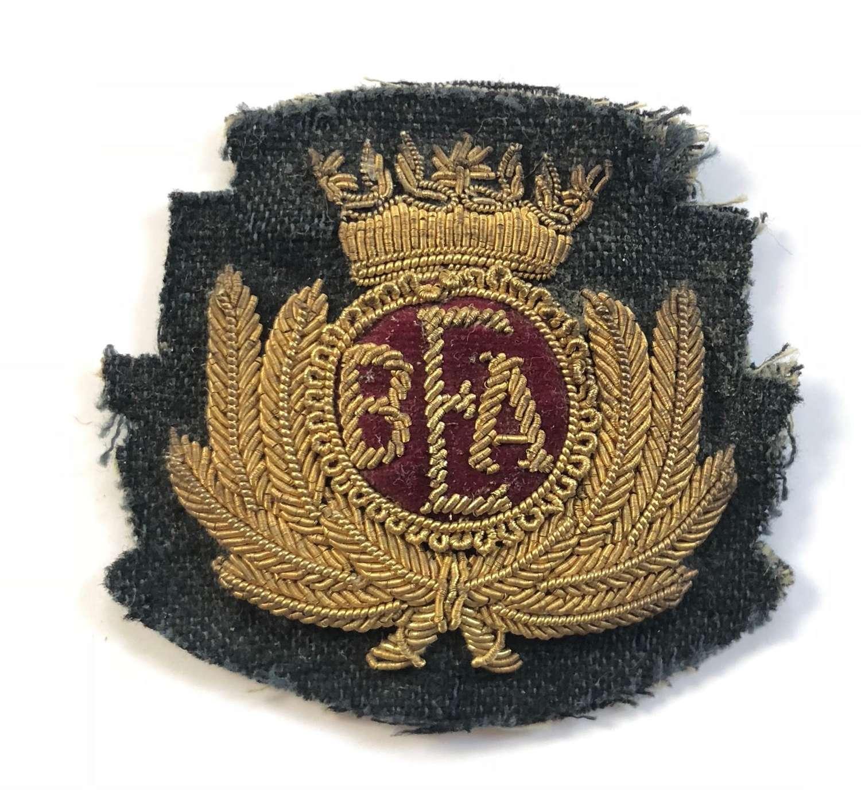 British European Airways Bullion Cap Badge.