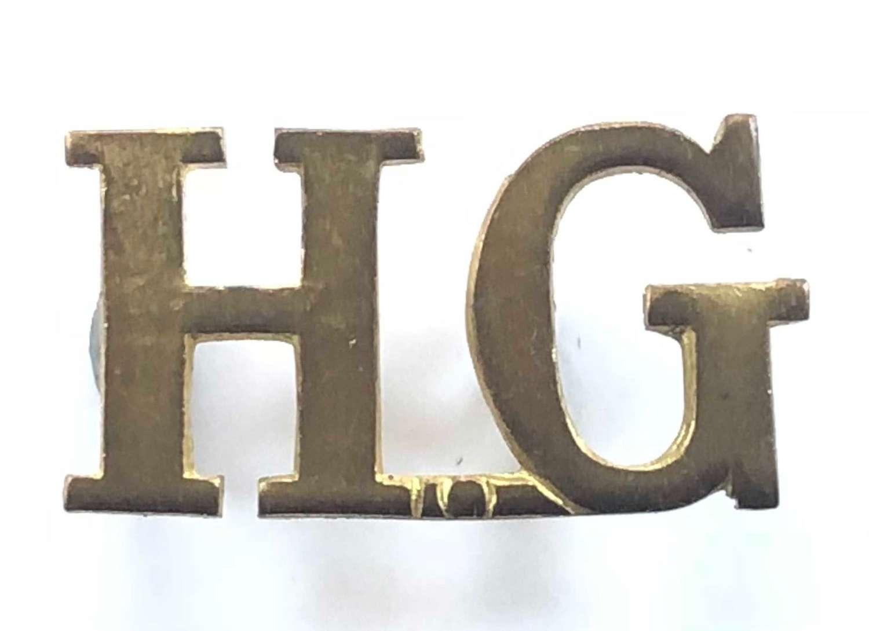 Home Guard Shoulder Brass Title Badge.