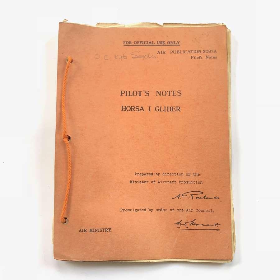 WW2 RAF Glider Pilot Regiment 1942 Horsa Glider Pilot Notes Provinance