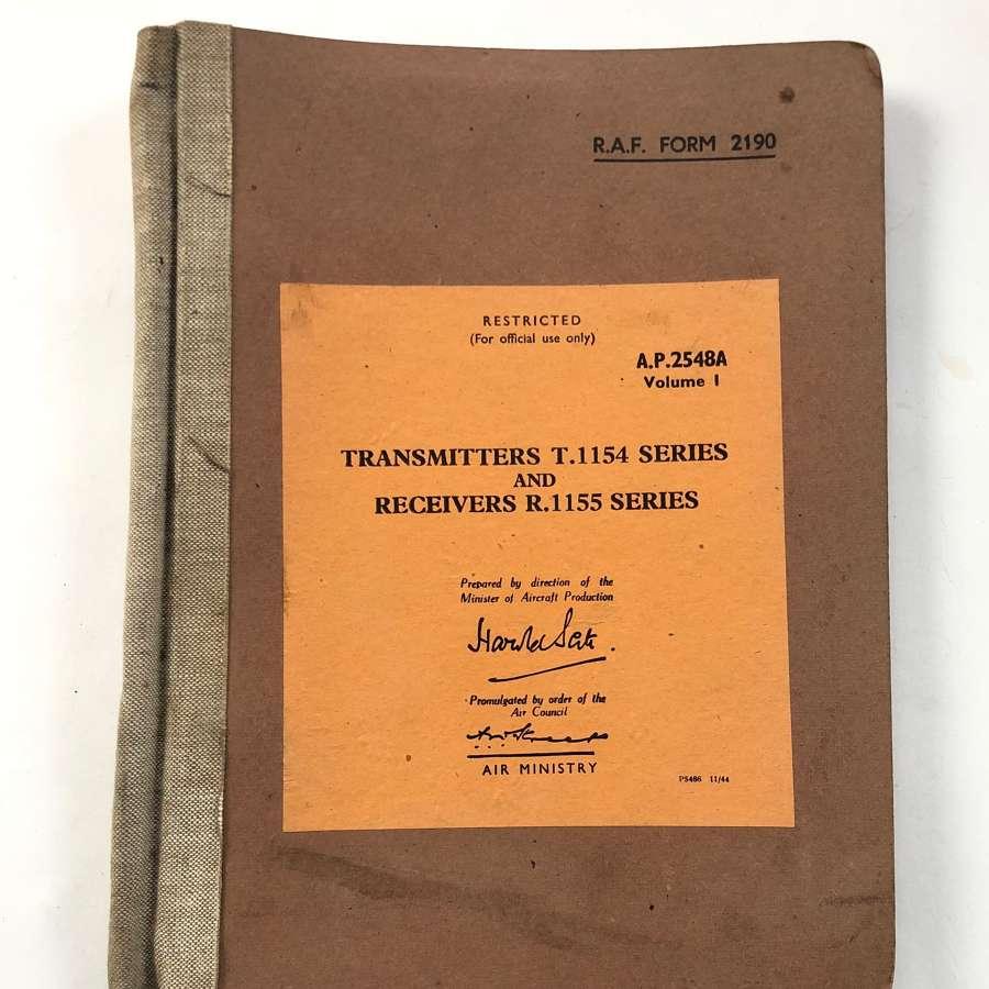 WW2 RAF Aircraft Radios T1154 & R1155 Manual.