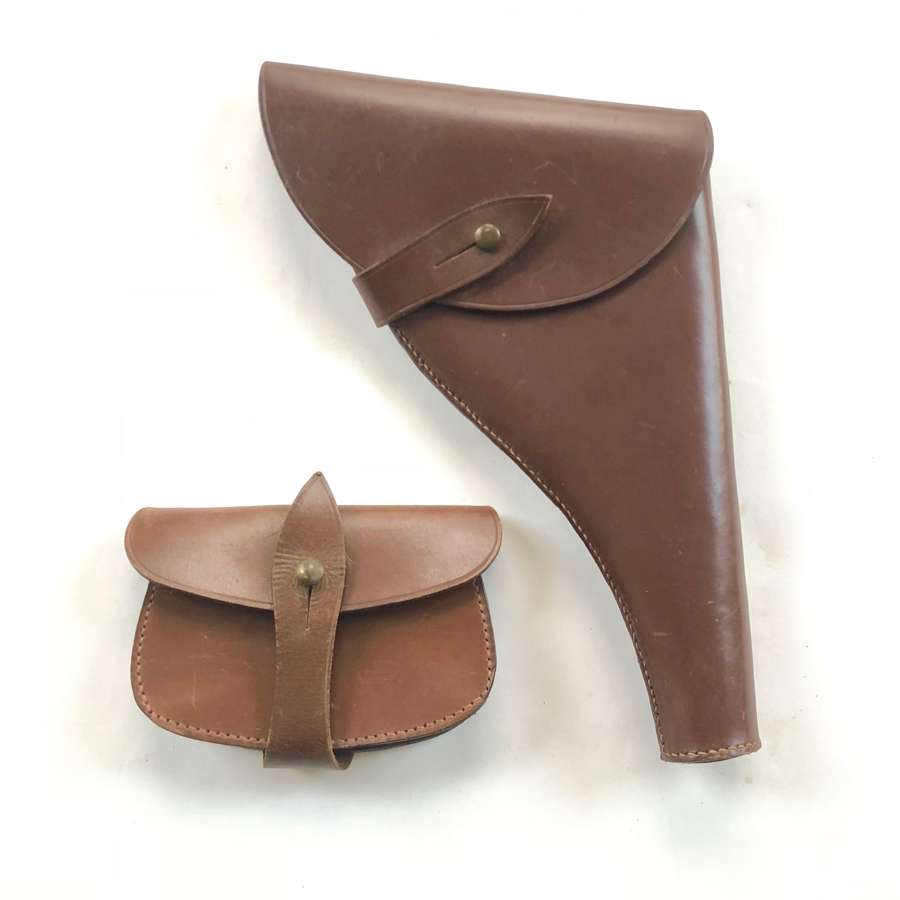 WW1 / WW2 Office's Sam Brown Holster and Pouch.