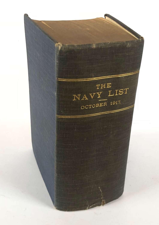 WW1 Original October 1917 Naval List.