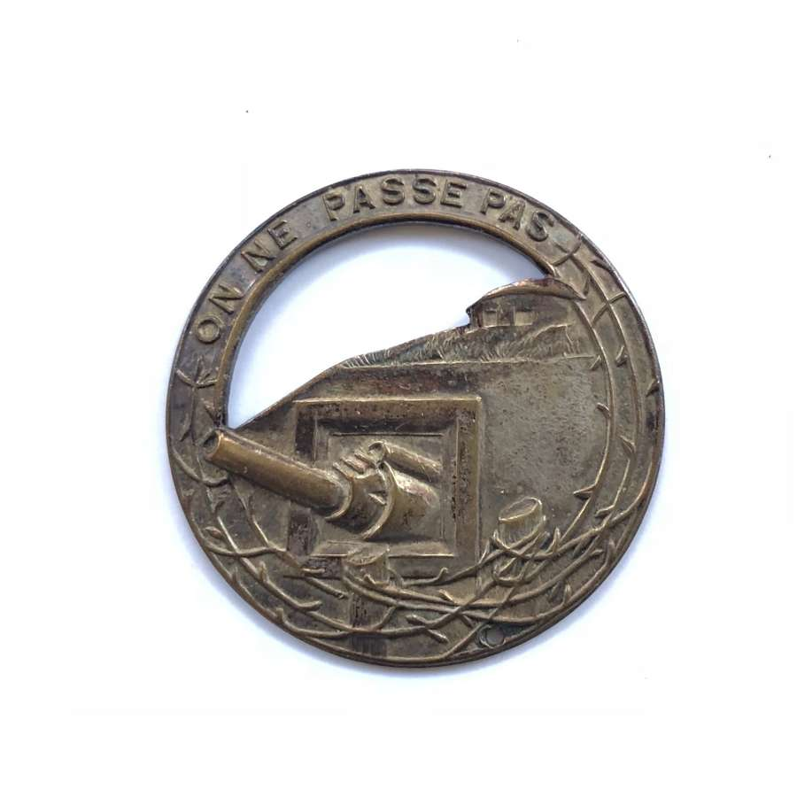 WW2 French Maginot Line Badge