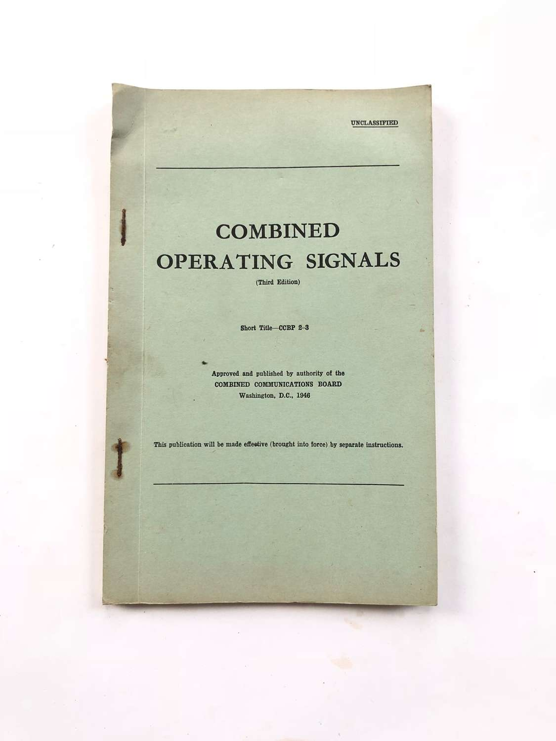WW2 /  Cold War Combined Operating Signals Official Booklet.