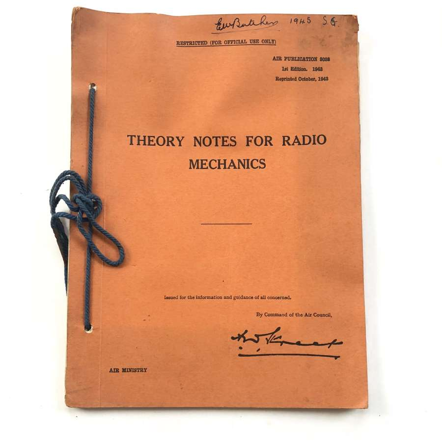 WW2 1943 RAF Theory Notes For Radio Mechanics.