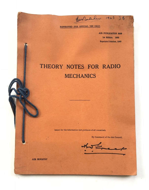 WW2 1943 RAF Theory Notes For Radio Mechanics.