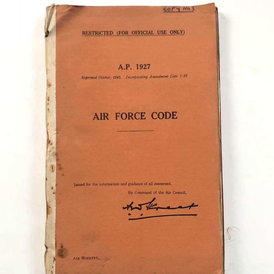 WW2 / Cold War RAF AP 1927 Air Force Code For Transmitting.