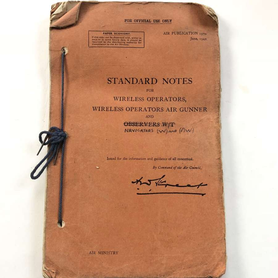 WW2 1942 Standard Notes Wireless Operators Air Gunners.