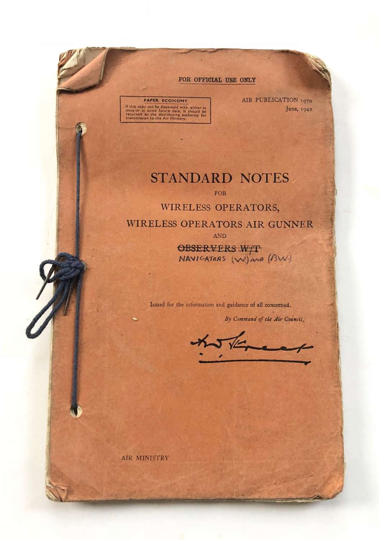 WW2 1942 Standard Notes Wireless Operators Air Gunners.