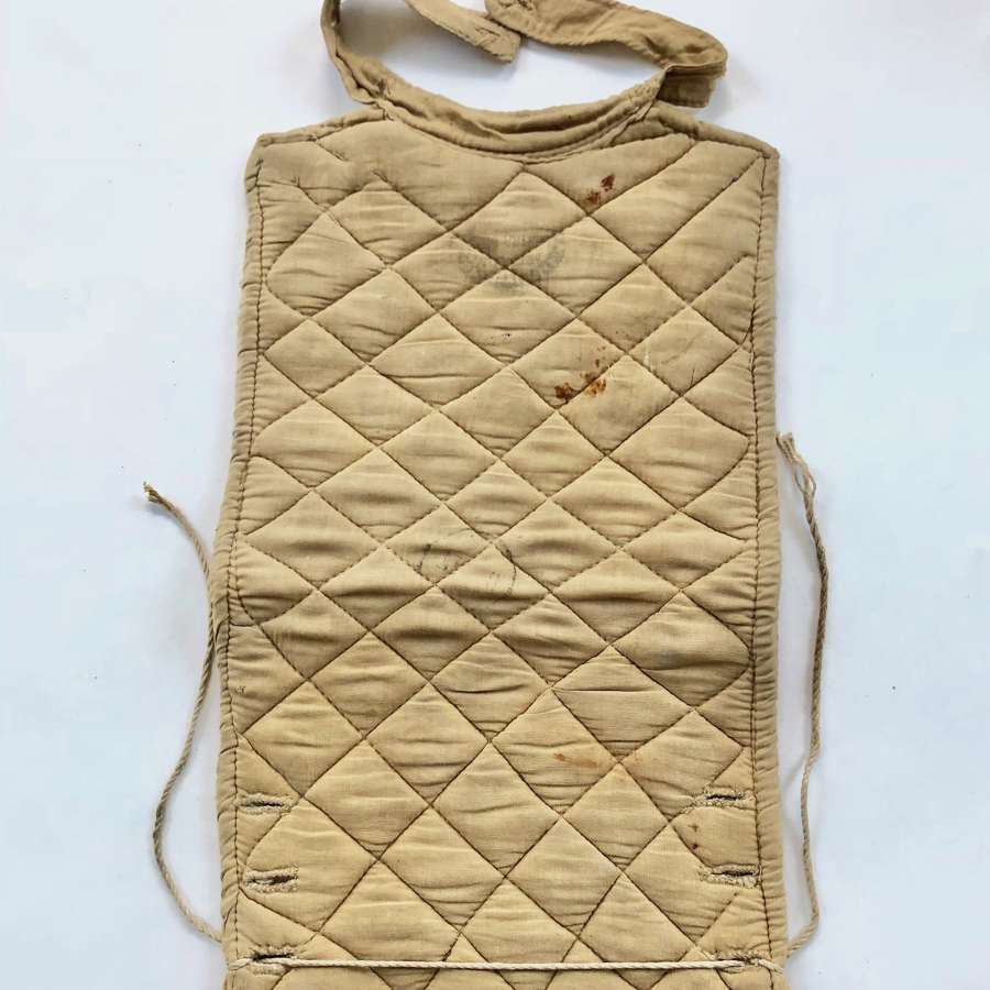 WW1 British Quilted Spine Pad.