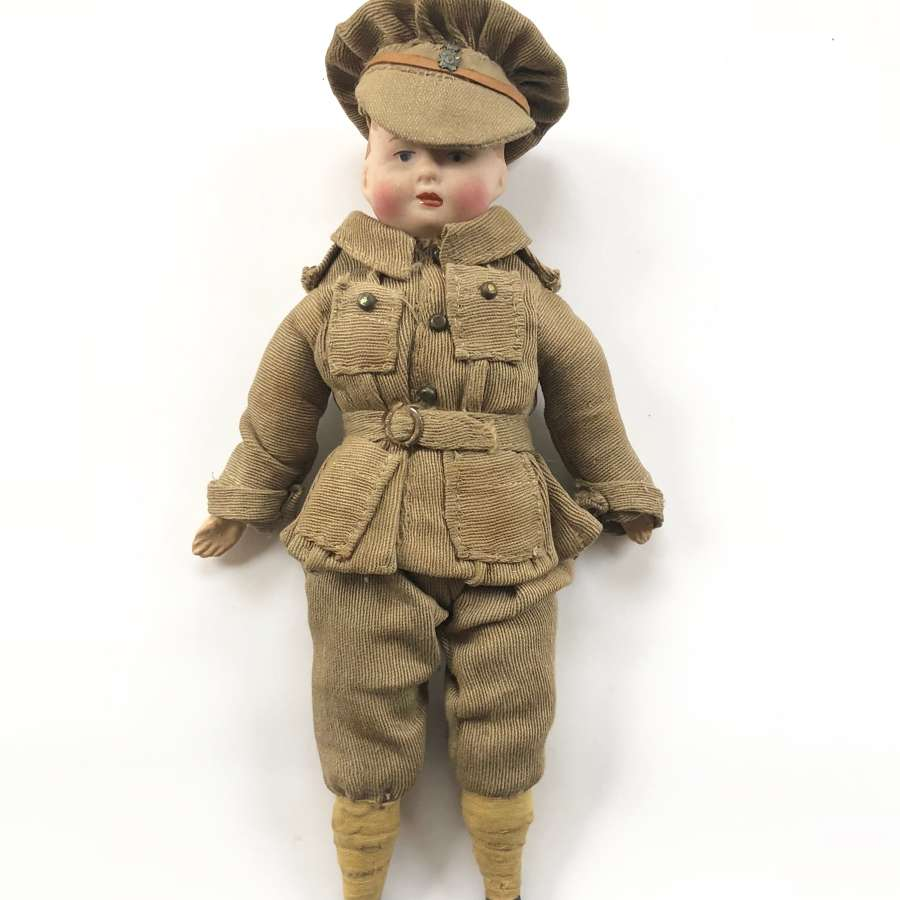 WW1 Patriotic English Made Soldier Doll.