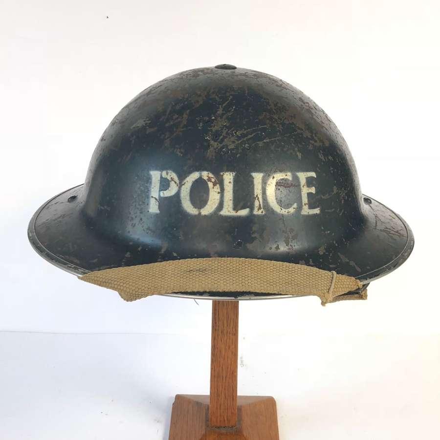 WW2 1939 Home Front Police Helmet.