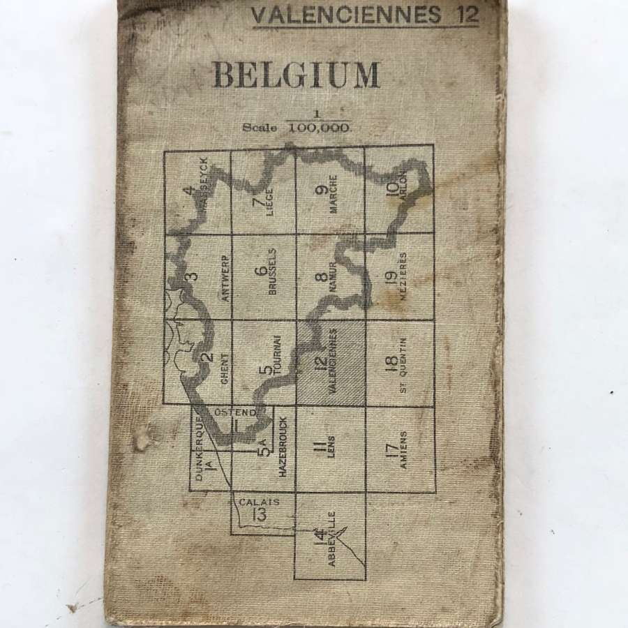 WW1 British Army 1915 Map. Belgium Valenciennes 12