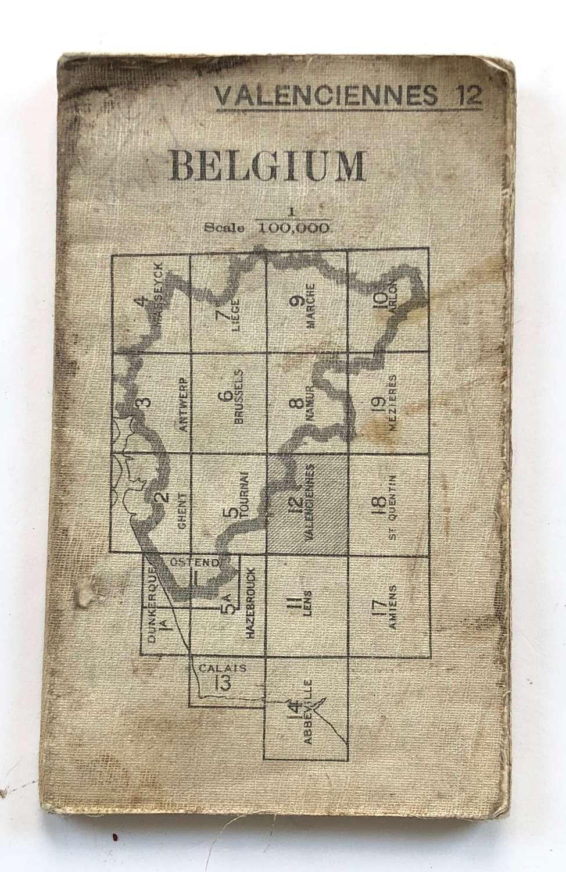 WW1 British Army 1915 Map. Belgium Valenciennes 12