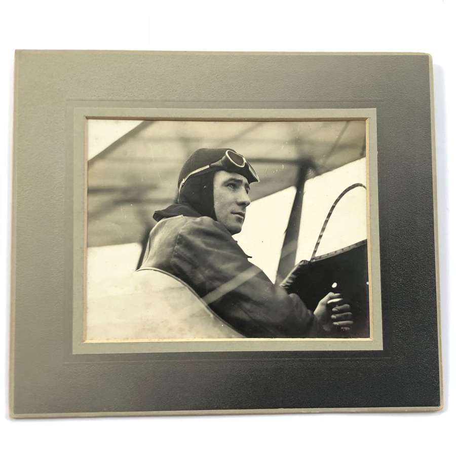 Original Photograph Aviator Norman Channing Spratt The First Top Gun