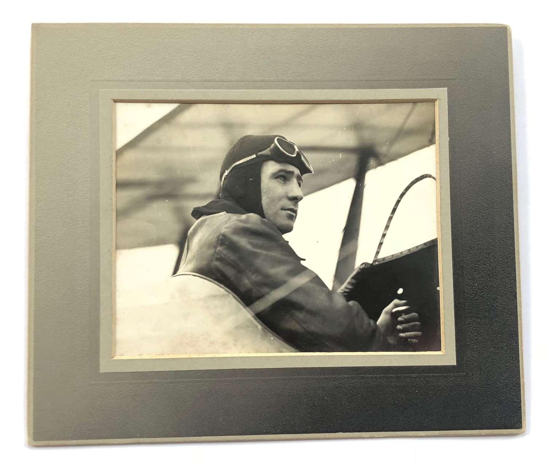 Original Photograph Aviator Norman Channing Spratt The First Top Gun