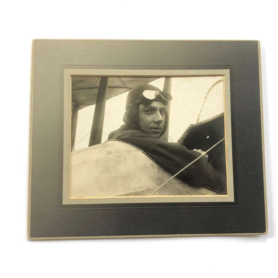 Pioneer Aviator Photograph Hereward de Havilland Circa 1914.
