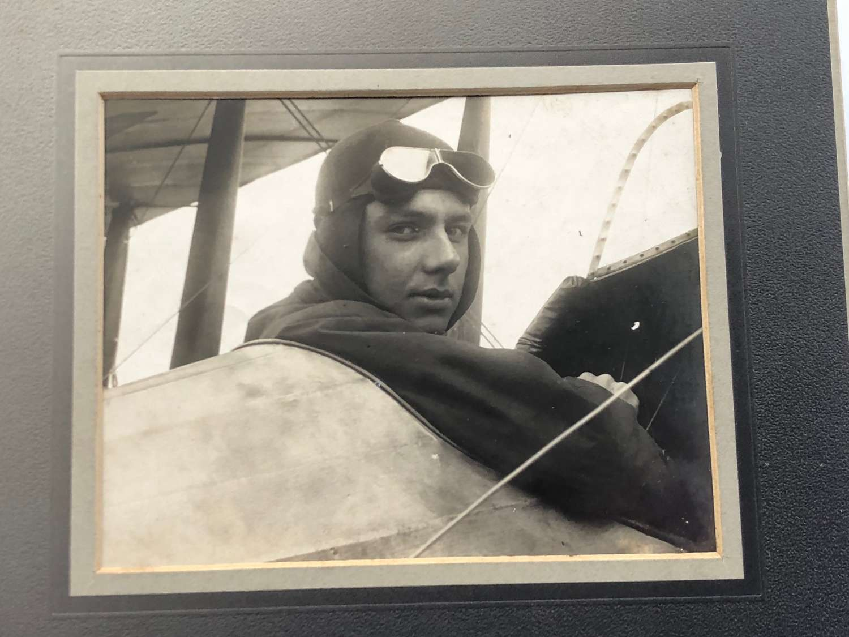 Pioneer Aviator Photograph Hereward de Havilland Circa 1914.