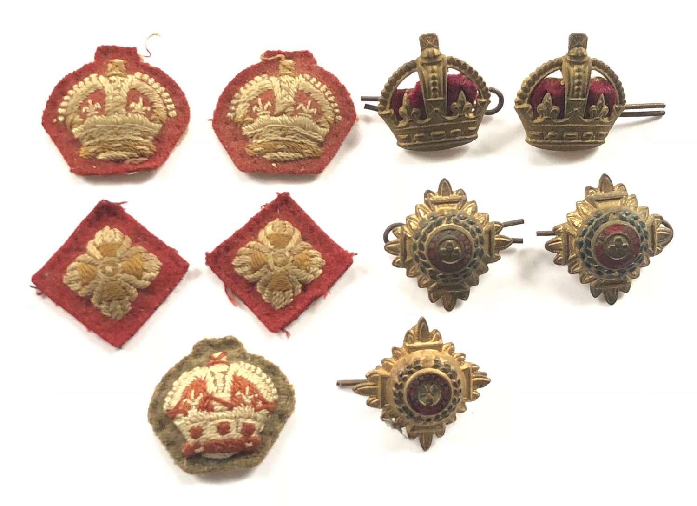 WW2 Period Infantry Lieutenant Colonel Rank Badges.