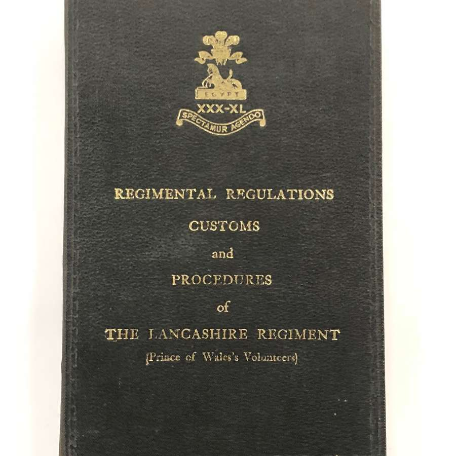 The Lancashire Regiment Cold War 1961 Regimental Instructions.