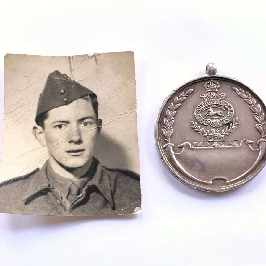 King's Liverpool Regiment Silver 1935 Boxing Medal