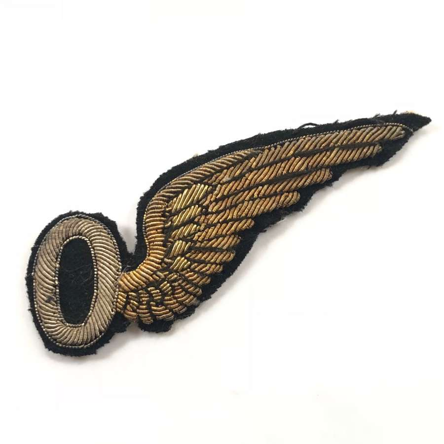 WW1 RAF 1918 Bullion Embroidered Observer's Brevet.