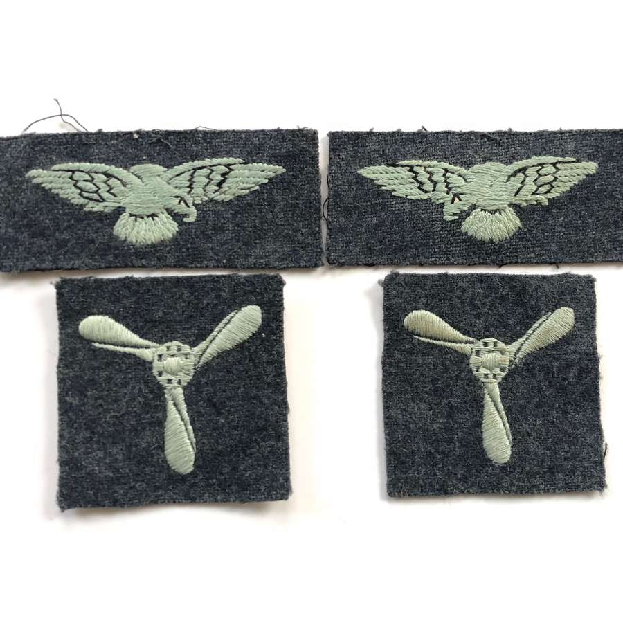 RAF Cold War Period Battledress Badges.