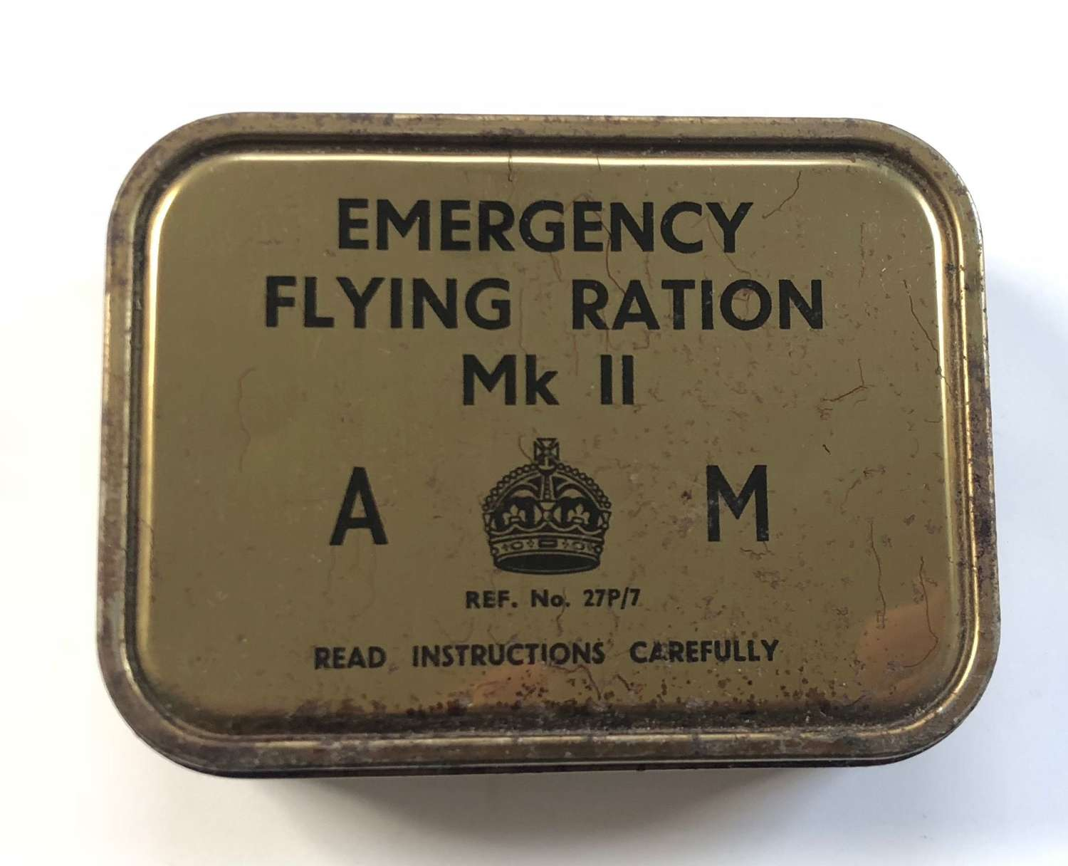 WW2 December 1943 RAF Emergency Flying Ration Tin.