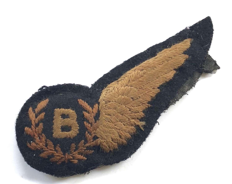 WW2 Period Bomb Aimer Brevet Badge Padded.