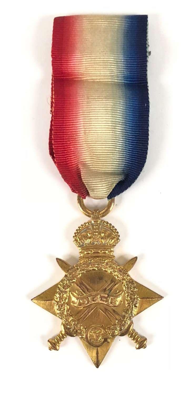 WW1 6th Bn Lincolnshire Regiment Gallipoli Casualty Star Medal.