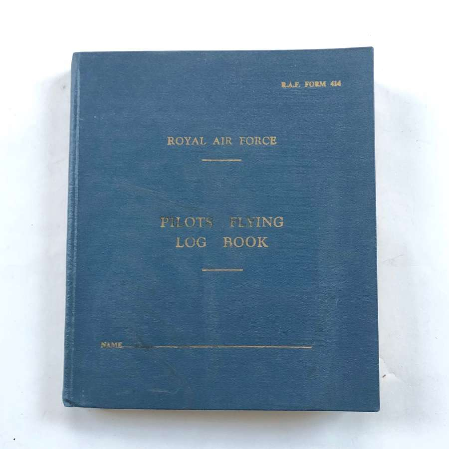 RAF  Cold War Period Pilots Logbook.