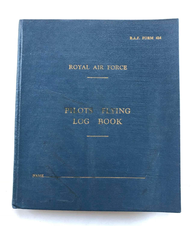 RAF  Cold War Period Pilots Logbook.