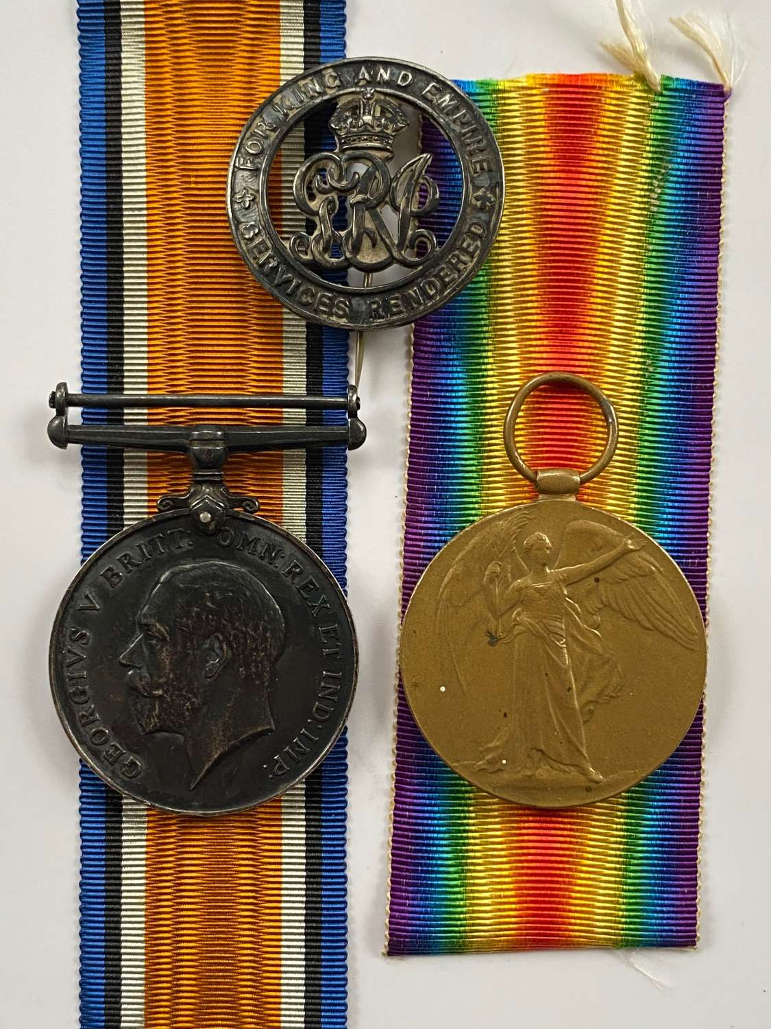 WW1 Durham Light Infantry Medals and Silver War Badge.