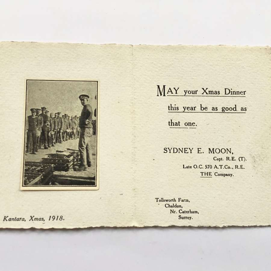 1919 Devonshire Fortress Royal Engineers Christmas Card.