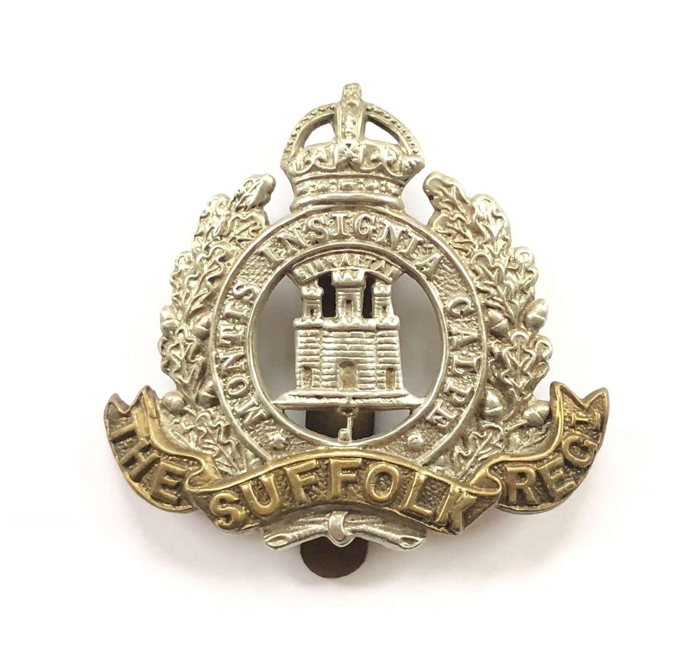 WW1/WW2 Suffolk Regiment Other Rank's Cap Badge.