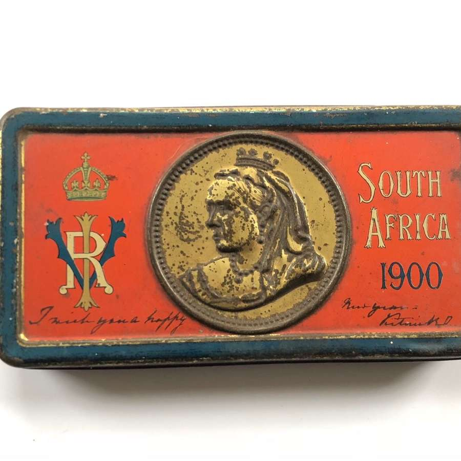 Boer War Christmas chocolate tin and contents by Cadburys