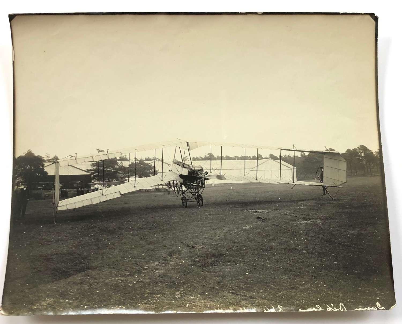 1914 Pioneer Aviation Original Large Photograph Dunne D.8 Aircraft.