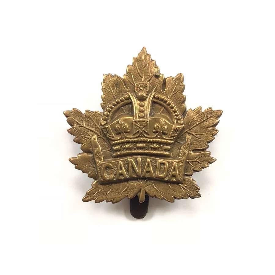 WW1 Period Canadian Cap Badge British Made.