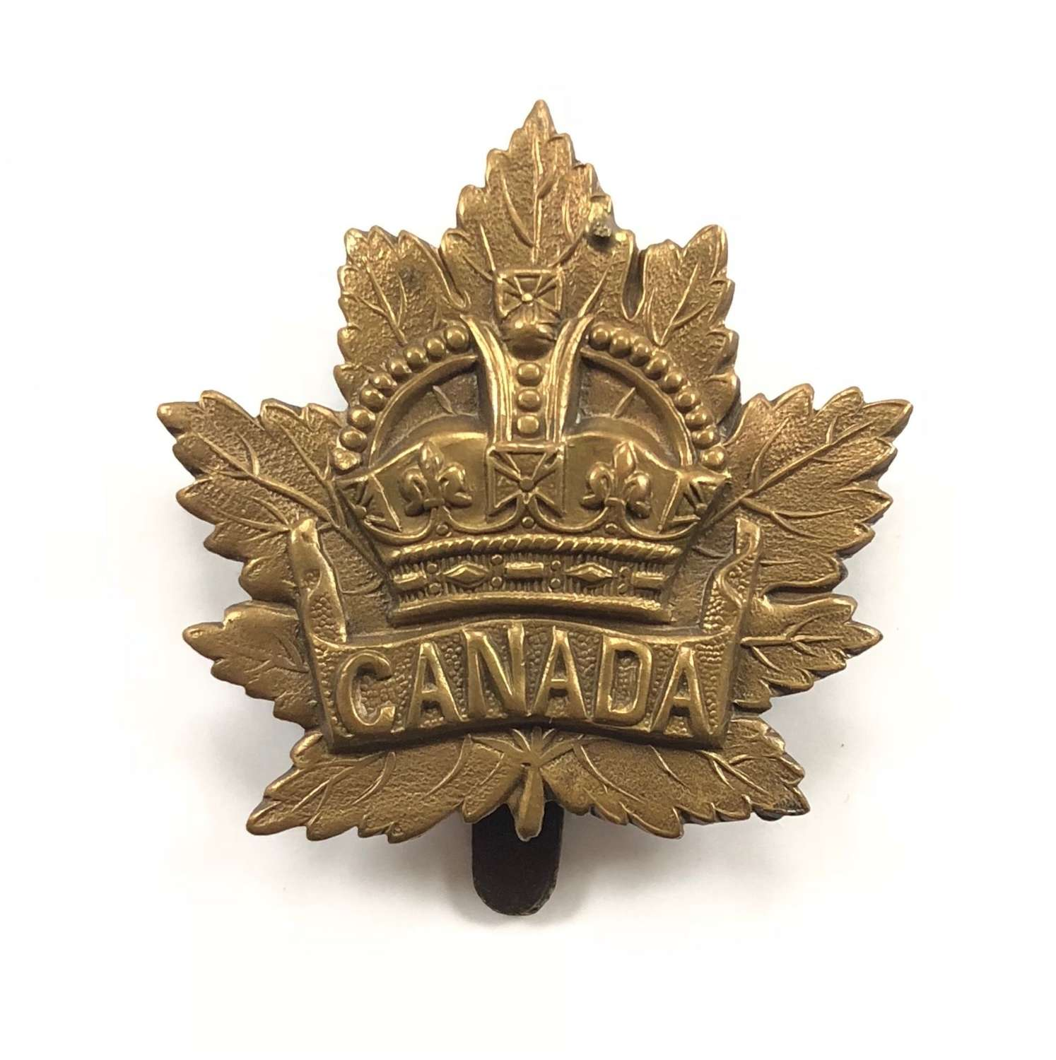 WW1 Period Canadian Cap Badge British Made.