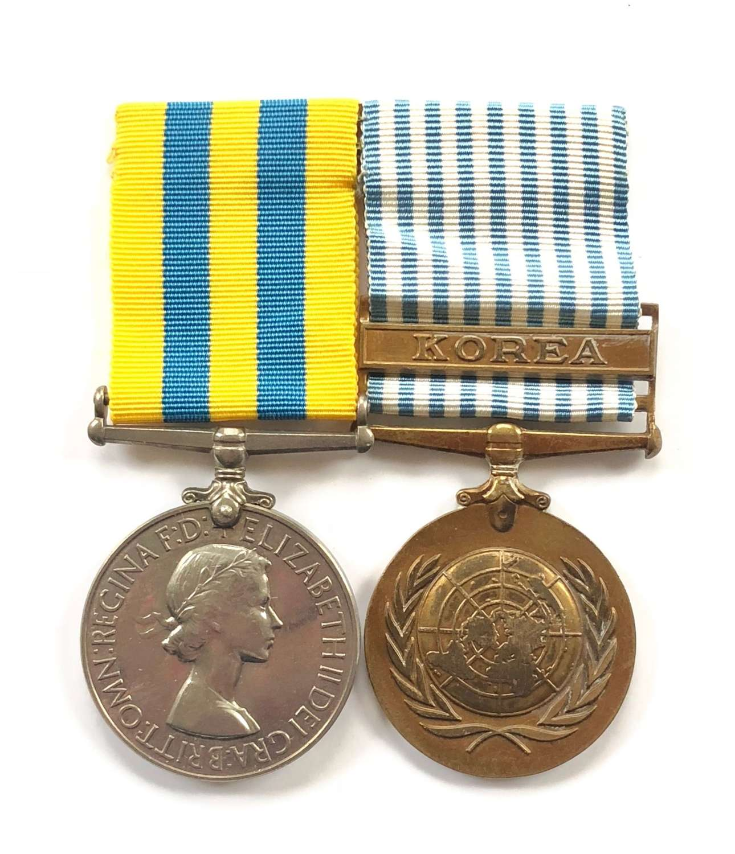 Royal Navy Police Korean War Pair of Medals.