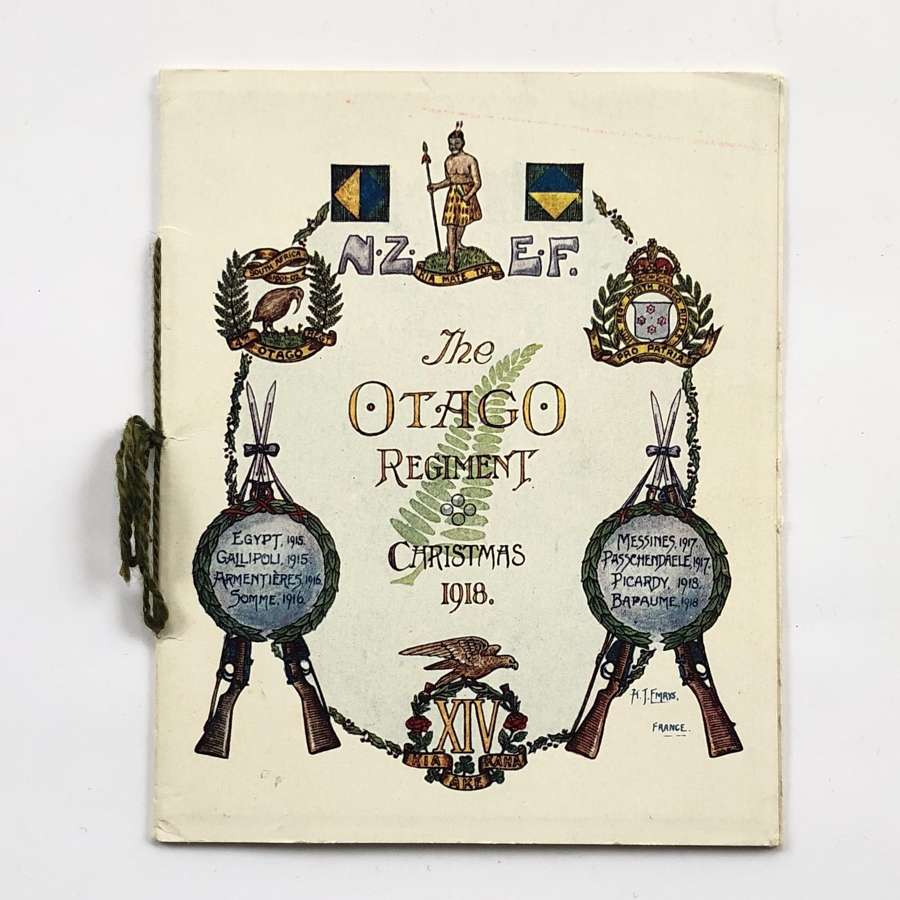 WW1 New Zealand Otago Regiment 1918 Christmas Card.