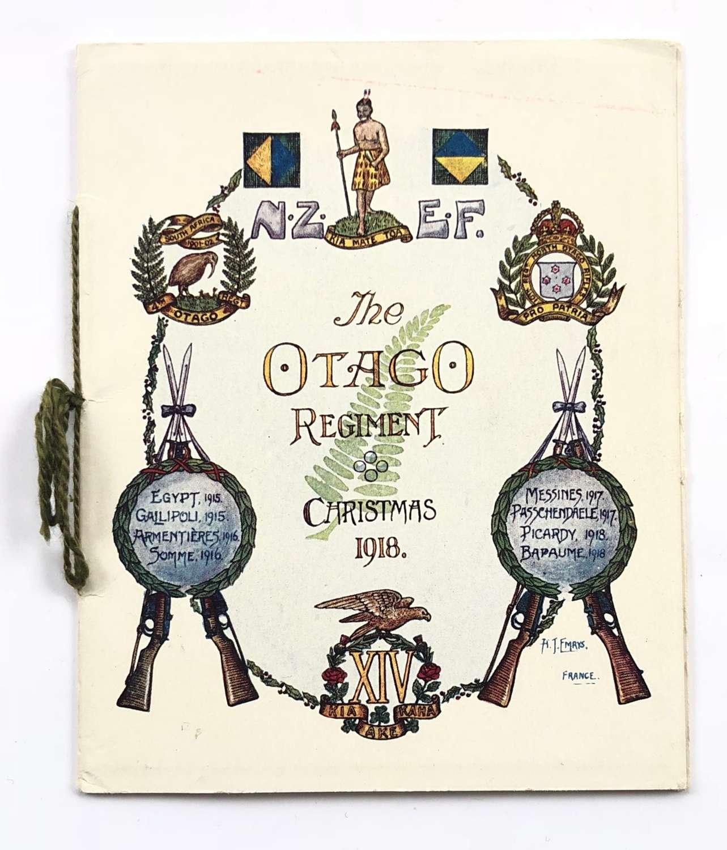 WW1 New Zealand Otago Regiment 1918 Christmas Card.