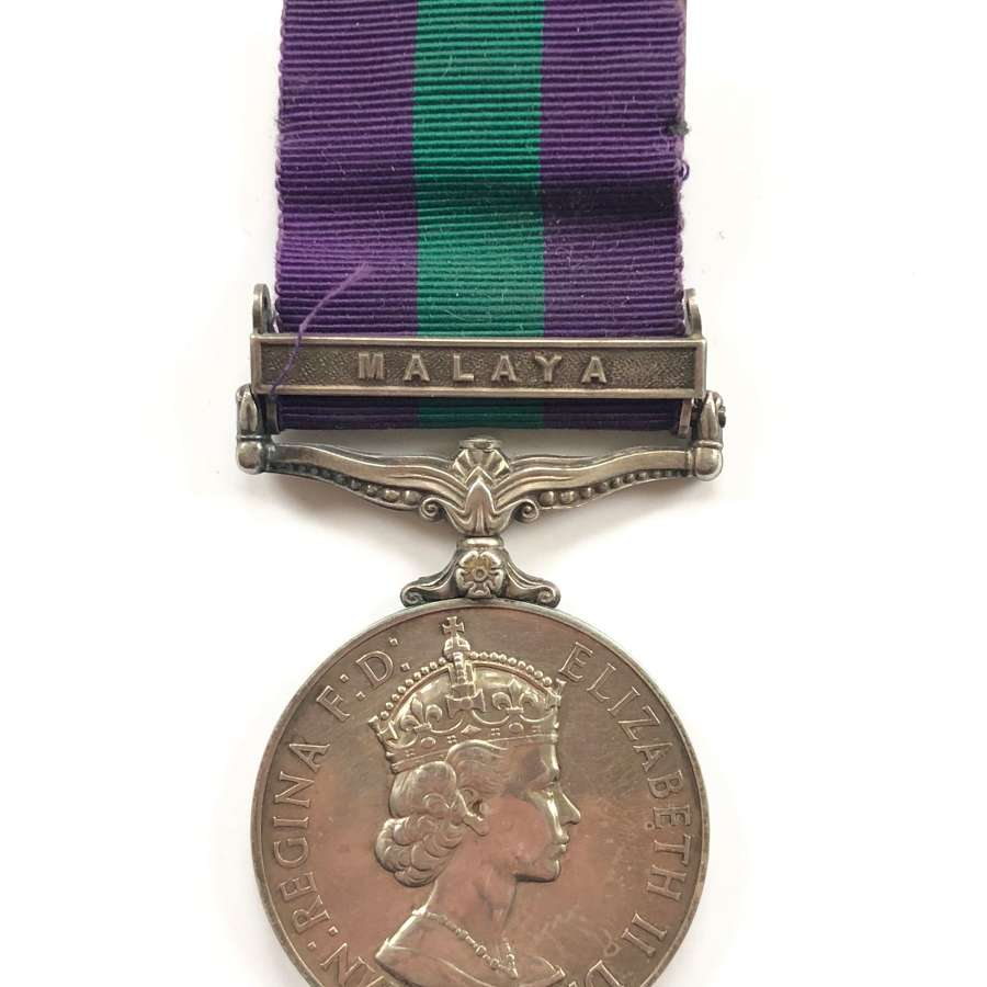 "King's Dragoon Guards General Service Medal ""Malaya""."