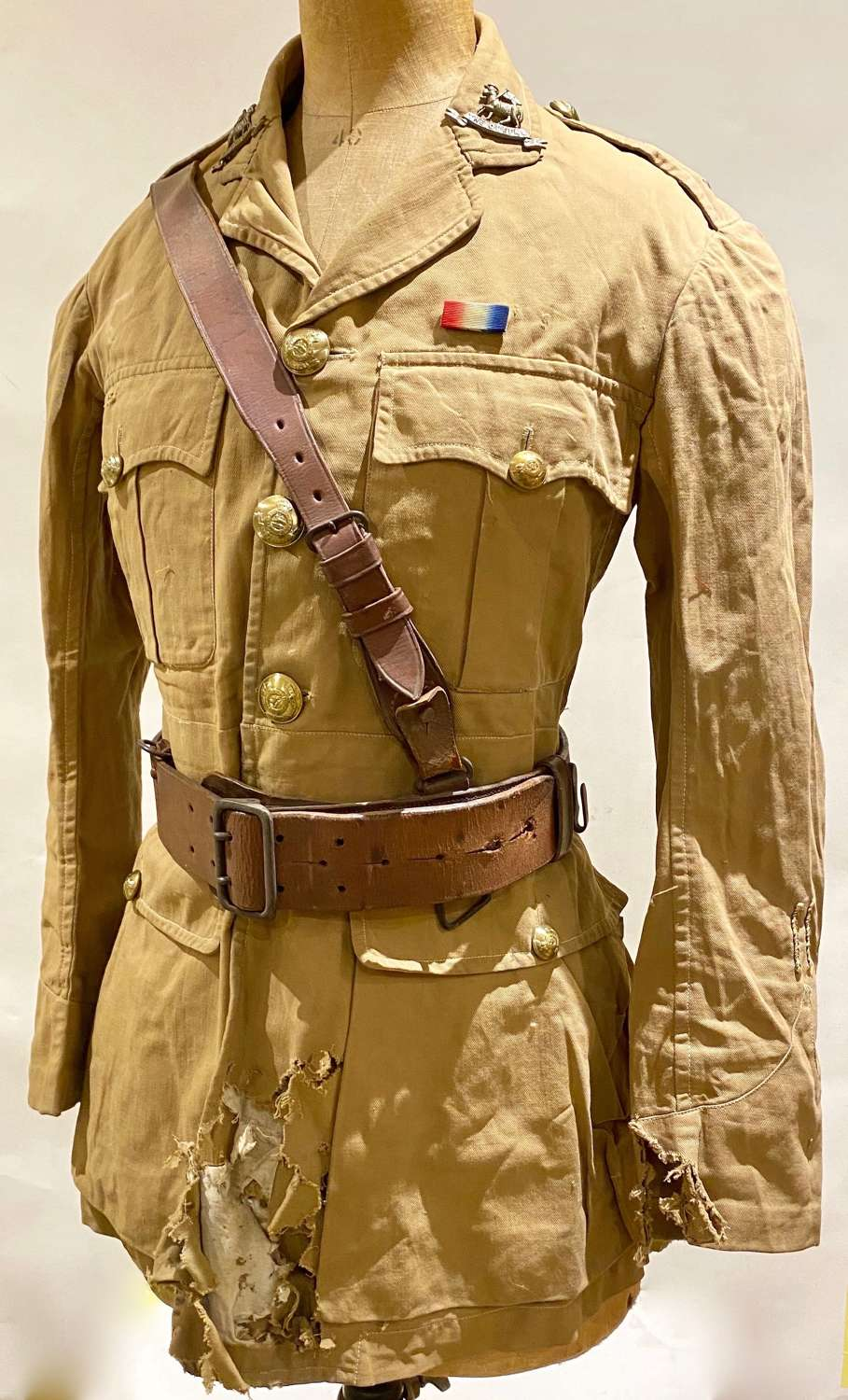 WW1 Attributed Queen's West Surry Regiment Officer's KD Tunic.