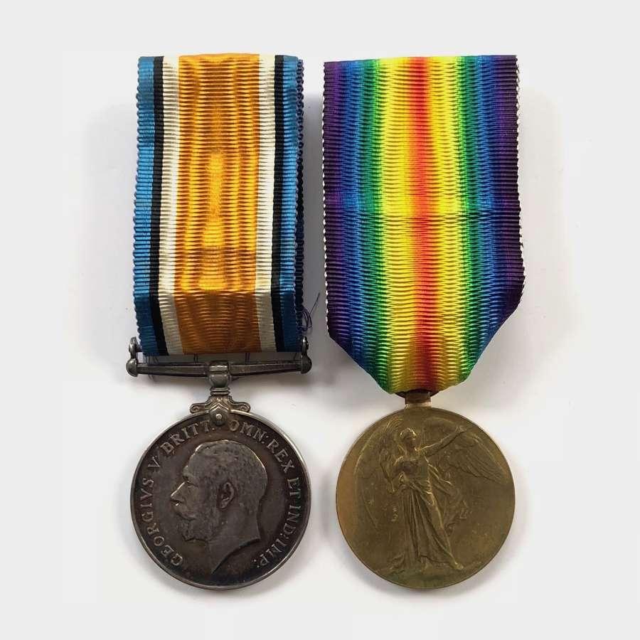 WW1 Hampshire Regiment Pair of Medals.