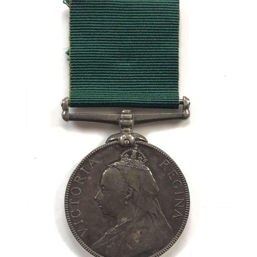 Victorian 1st D.V.R. Rifle Volunteer, Volunteer Long Service Medal.