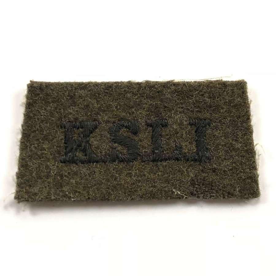 WW2 King's Shropshire Light Infantry KSLI Cloth Shoulder Title.