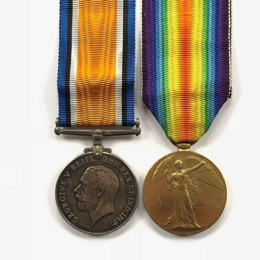 WW1 Middlesex Regiment Pair of Medals.