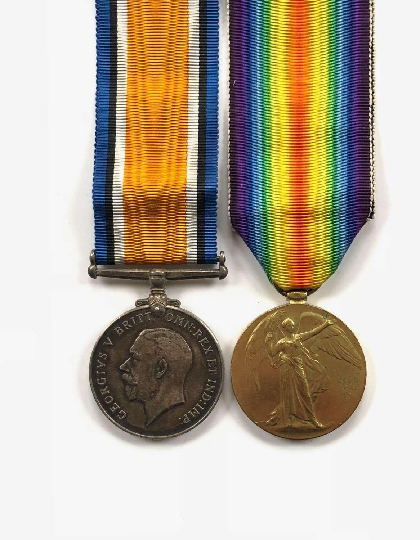 WW1 Middlesex Regiment Pair of Medals.